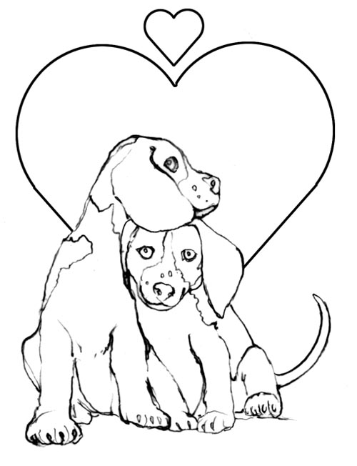 Puppy And Kitten Coloring Pages 8 puppy coloring pages for kids