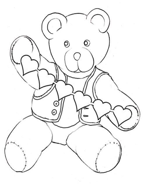 teddy bear face coloring pages - photo#28
