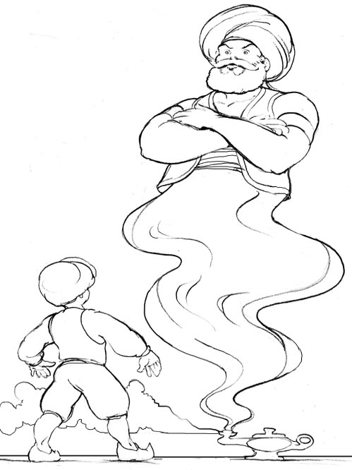 genie magic coloring pages - photo#32