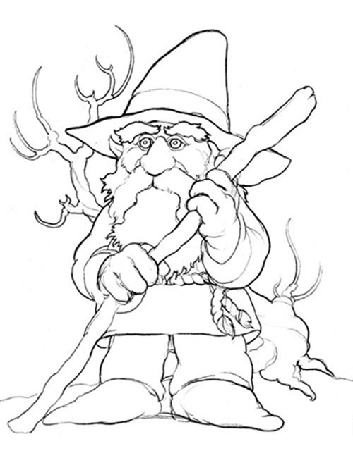 Kids Korner Free Coloring Pages Gnome Gnome Coloring Pages