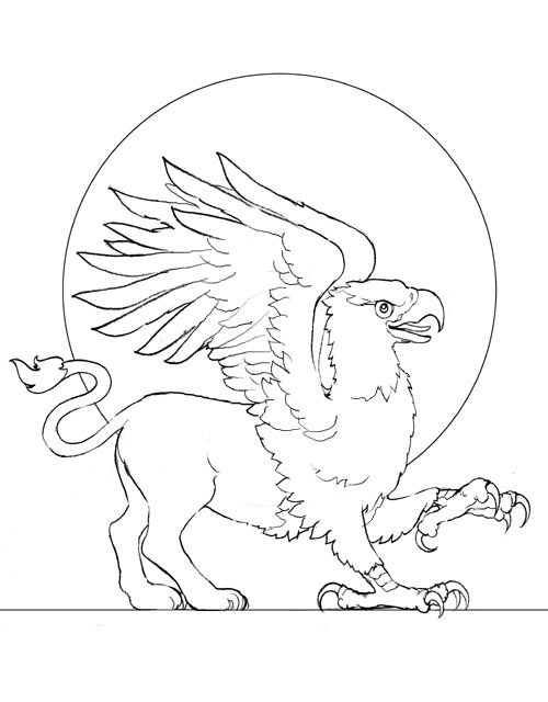 Griffin pictures colouring pages for Griffon coloring page