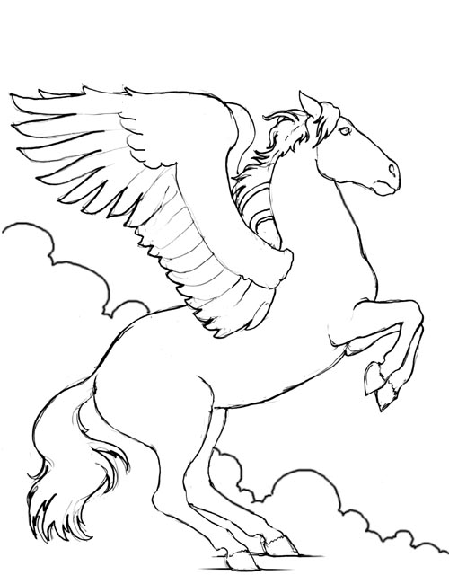 horses coloring pages. Free Coloring Pages!