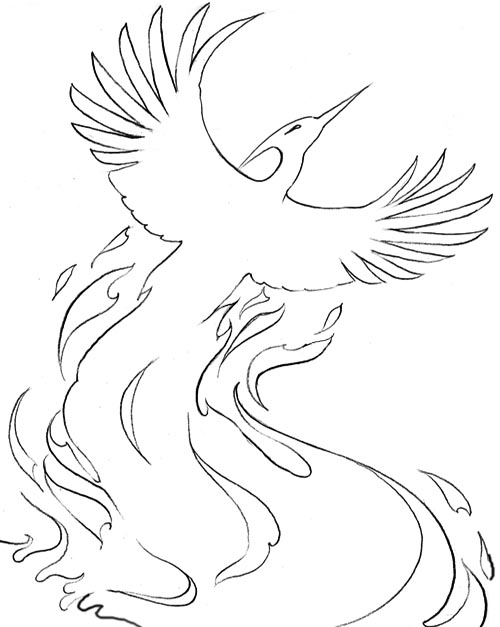 coloring pages of phoenix - photo#32