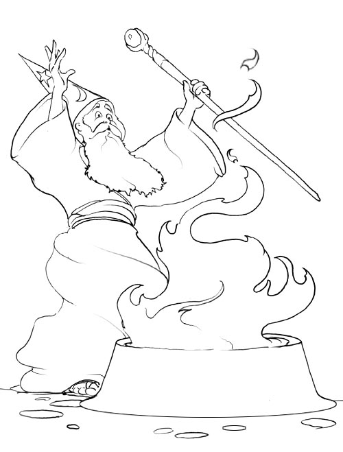Free Coloring Pages Of Wizard Of Or Wizard Coloring Pages