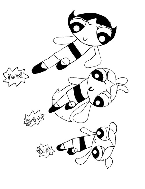 powderpuff boys coloring pages - photo #5