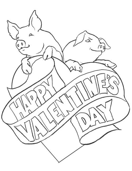 Hearts and Kisses coloring page | Valentines day coloring page ... | 650x500